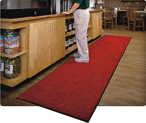 Long Red Commercial Mats - GoldenWest BetterWay